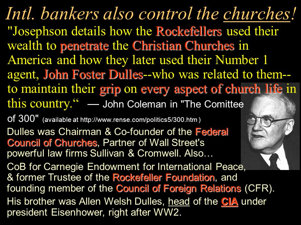 But then they must control the CIA too? because William Colby, ex director of the CIA said: