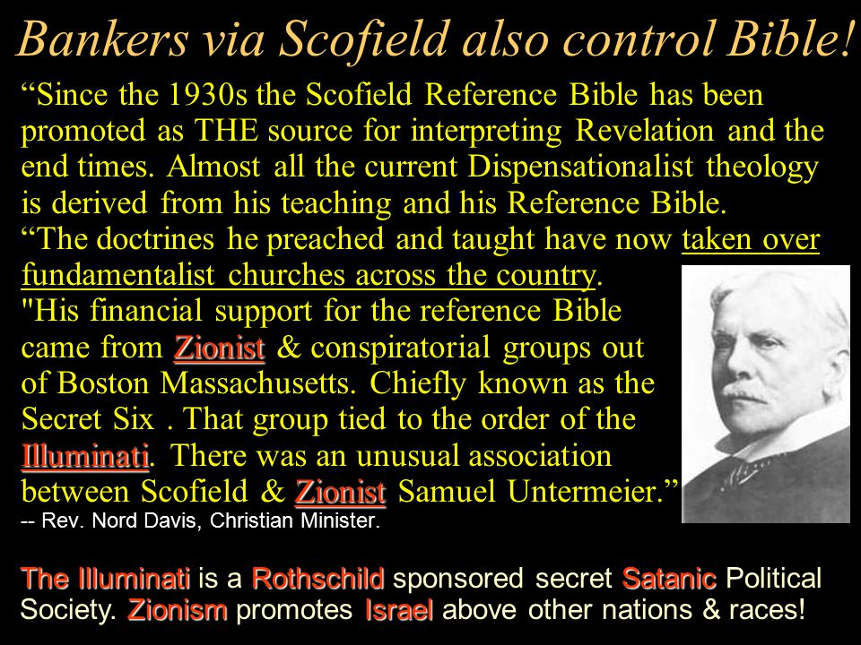 Intl. bankers also control the churches!