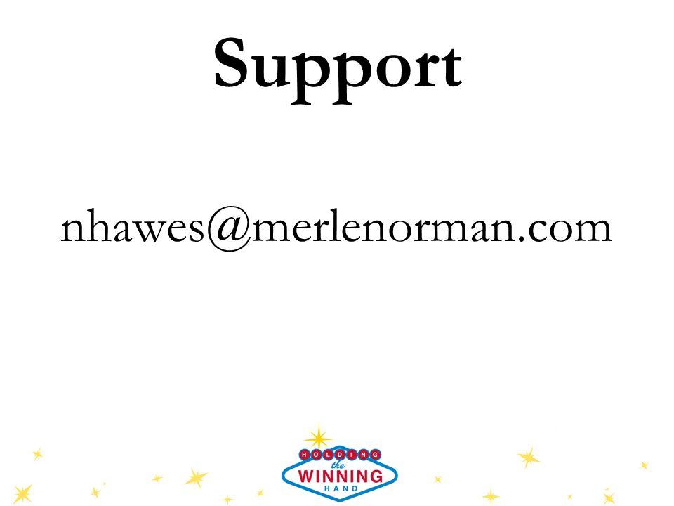 Support nhawes@merlenorman.com