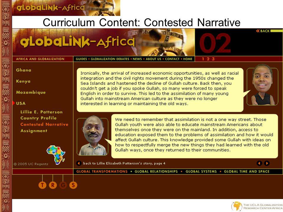 Curriculum Content: Lillie E. Patterson