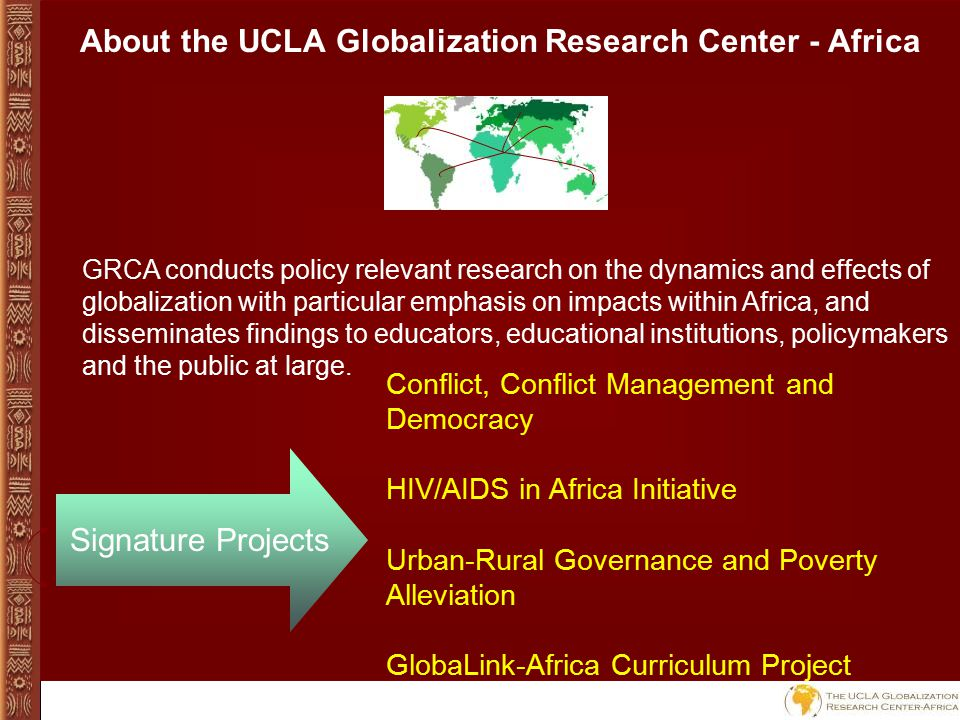 Curriculum Project The UCLA Globalization Research Center - Africa
