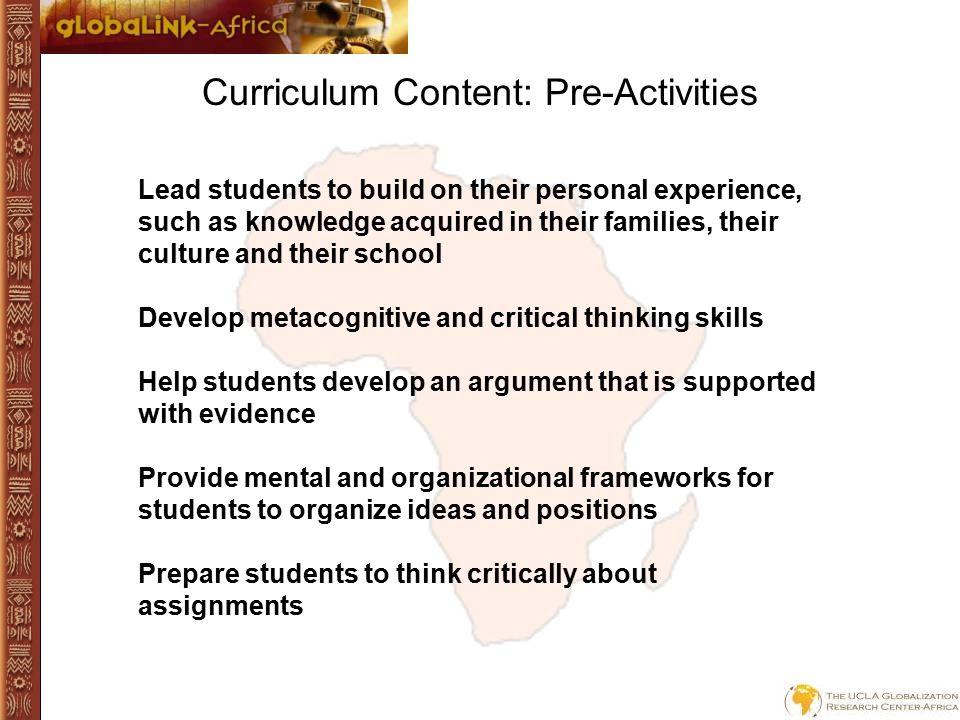 Curriculum Content: Student Toolkit