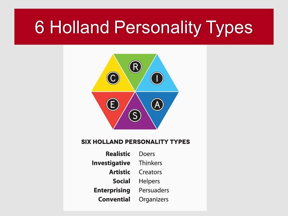 6 Holland Personality Types6 Holland Personality Types