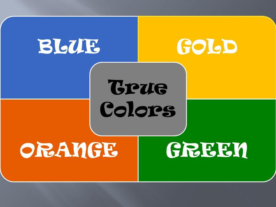 BLUEGOLD ORANGEGREEN True Colors