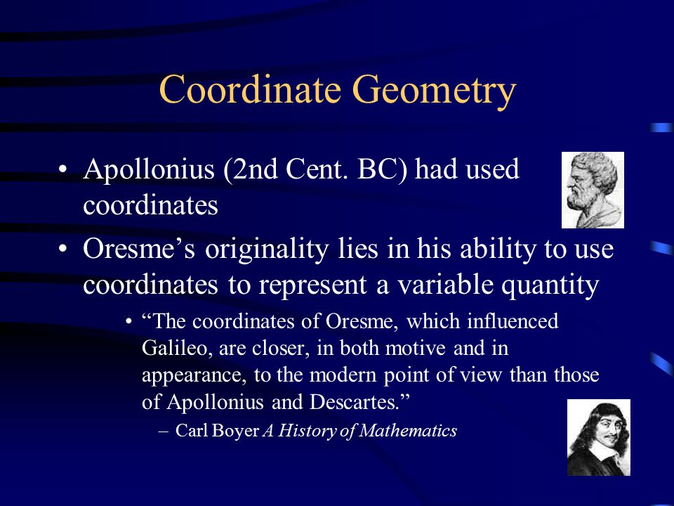 Coordinate Geometry Apollonius (2nd Cent.