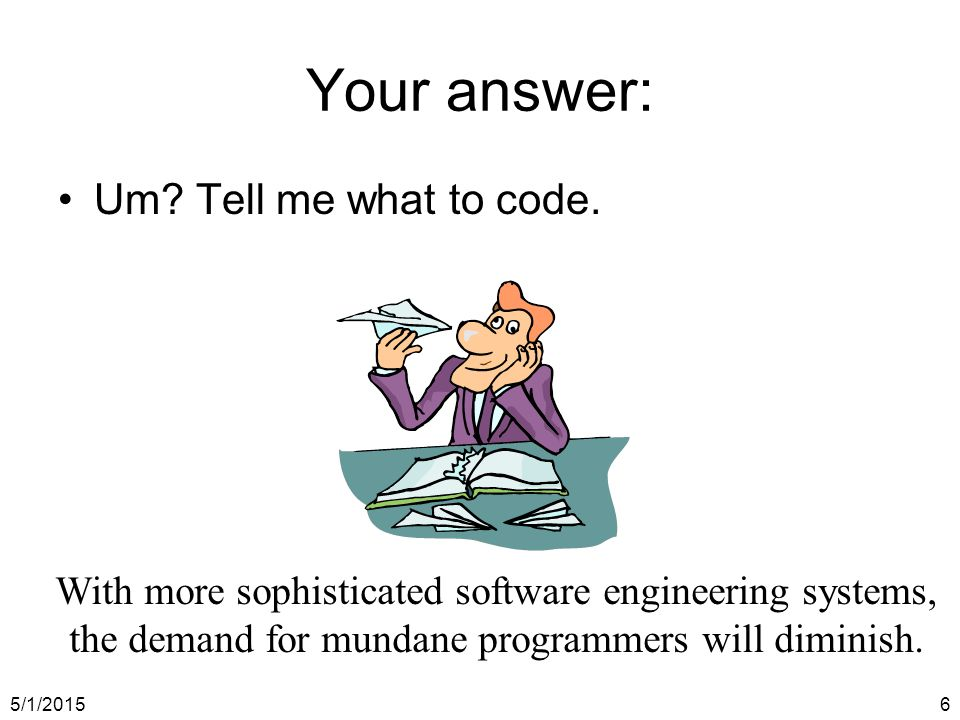 5/1/20156 Um. Tell me what to code.