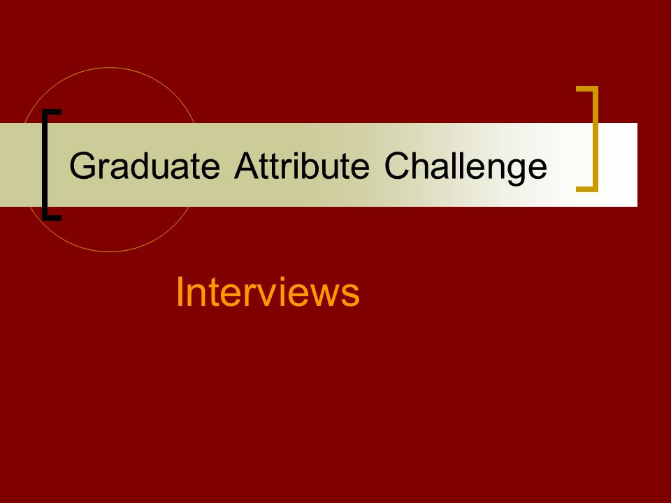 Graduate Attribute Challenge Interviews