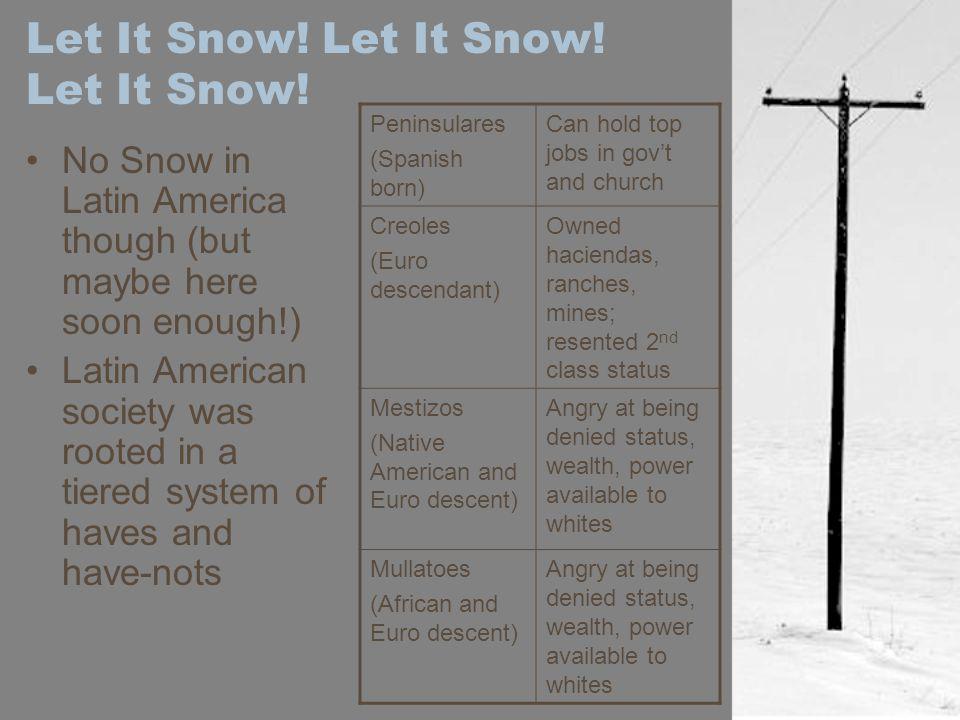 Let It Snow. Let It Snow. Let It Snow.