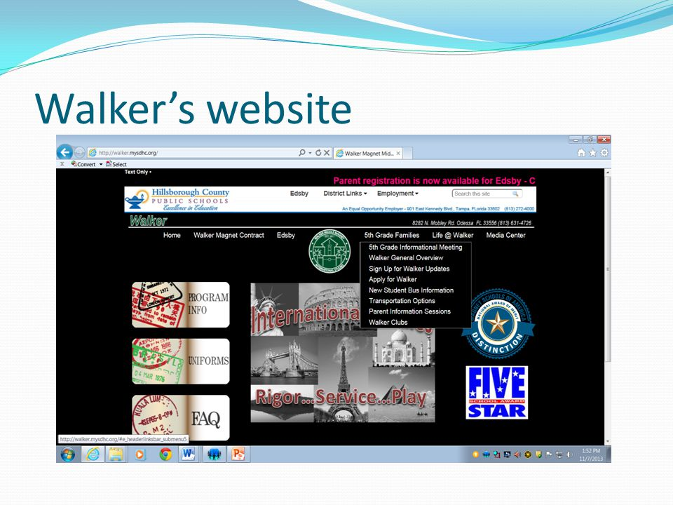 Walker's website