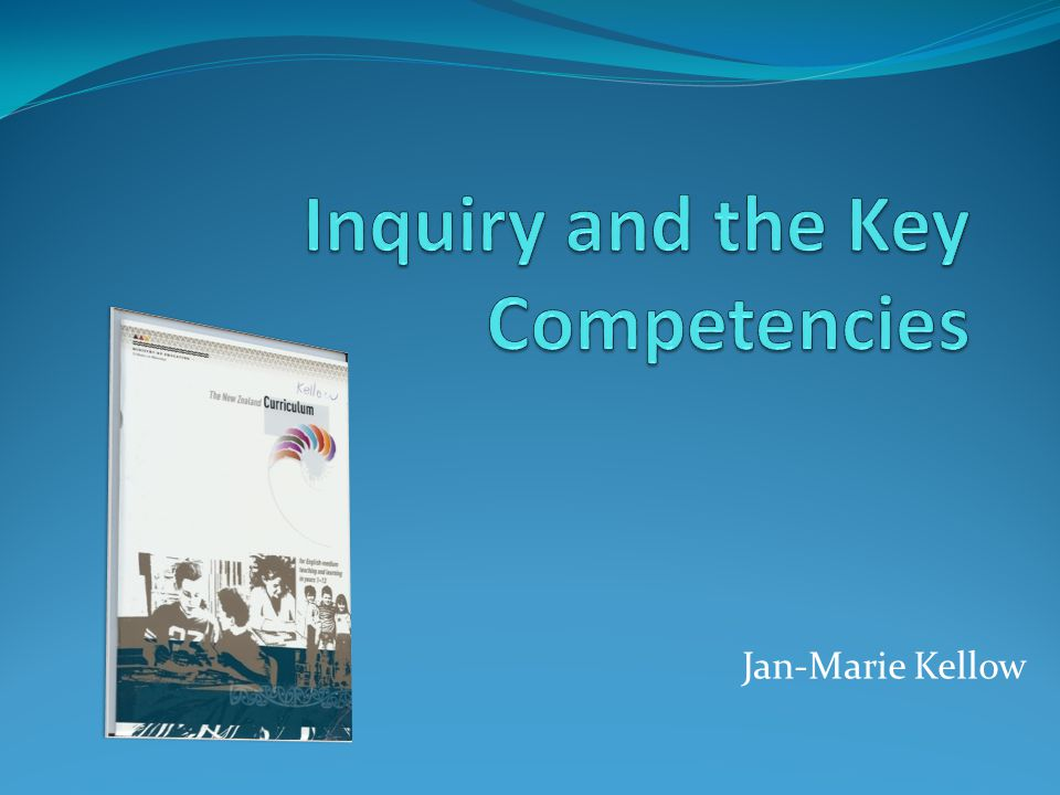 When designing and reviewing their curriculum, schools will need to consider how to encourage and monitor the development of the key competencies p38