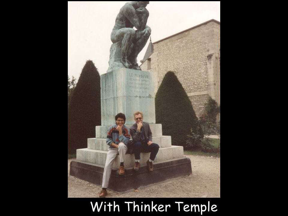 With Thinker Temple