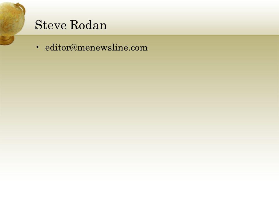 Steve Rodan editor@menewsline.com