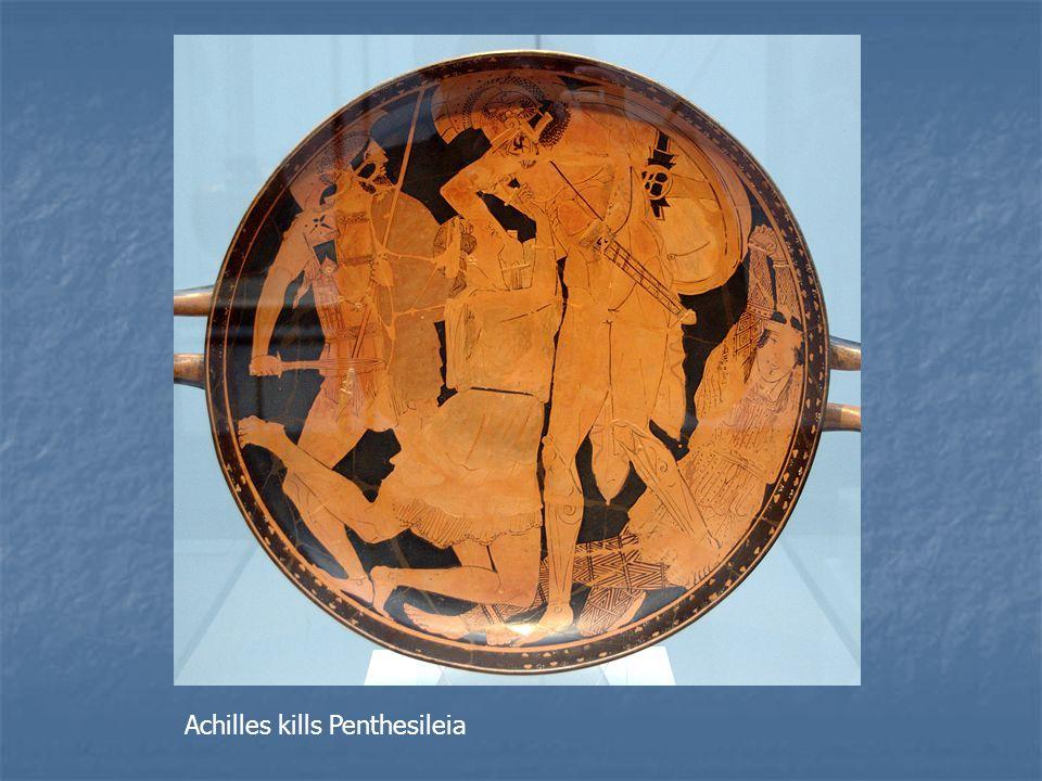 Achilles kills Penthesileia