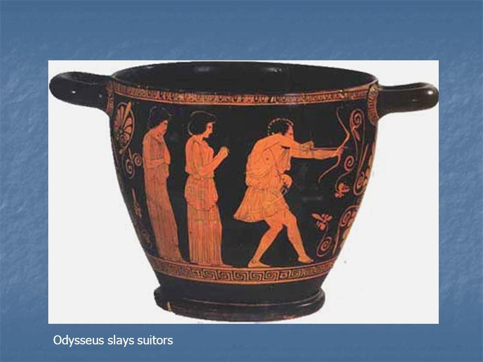 Odysseus slays suitors