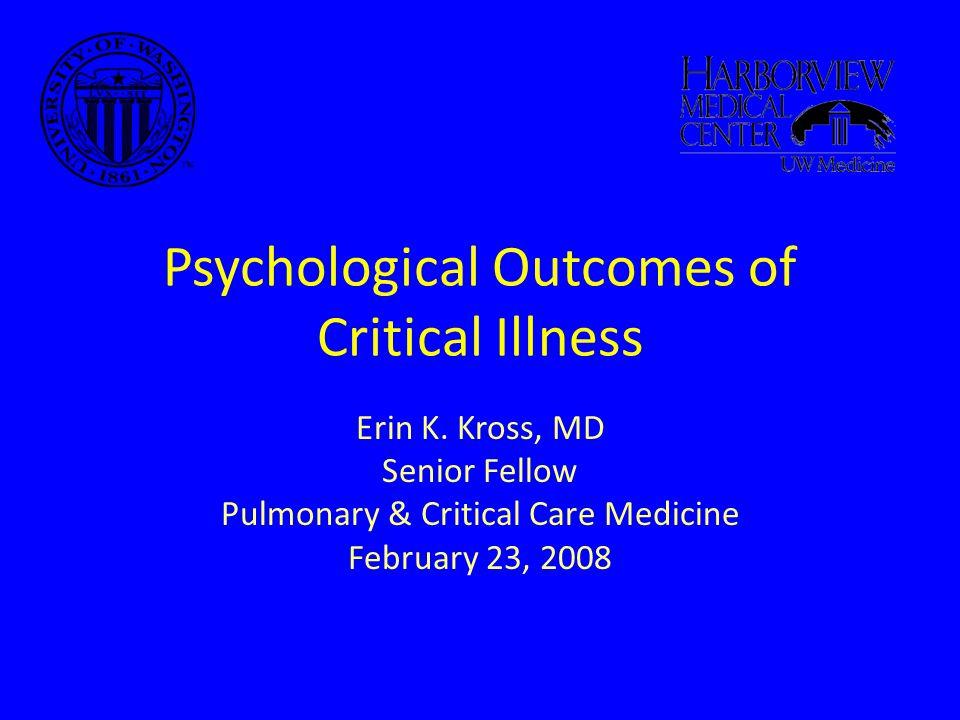 1) Survivors of Critical Illness