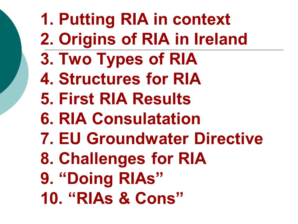 (5) First Results -- Pilot Departments/Offices  Health and Children Medical Practitioners Bill  Enterprise, Trade and Employment Export Controls Bill  Office of the Revenue Commissioners Betting Duty Regulations  Justice, Equality and Law Reform Coroners Bill  Environment, Heritage and Local Government Draft EU Groundwater Directive