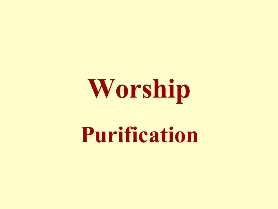 Worship Purification