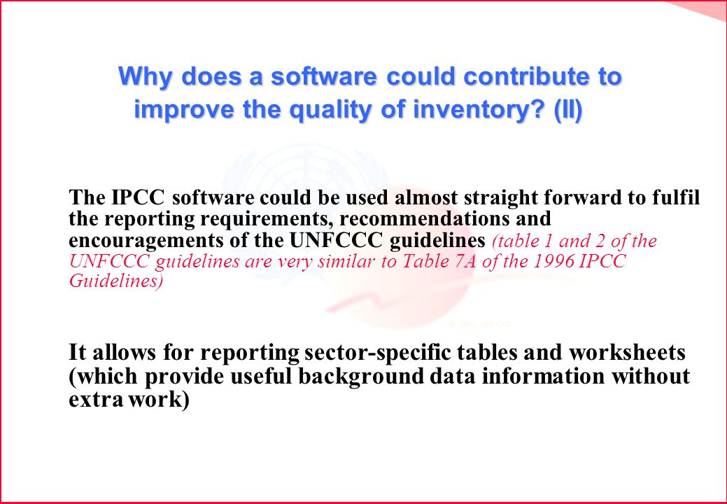 Why does a software could contribute to improve the quality of inventory.
