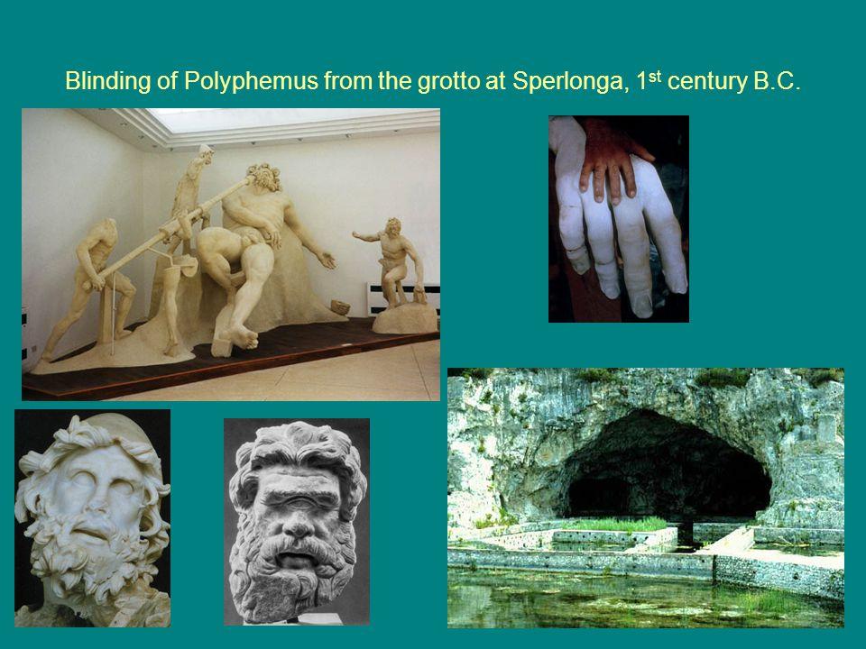Blinding of Polyphemus from the grotto at Sperlonga, 1 st century B.C.