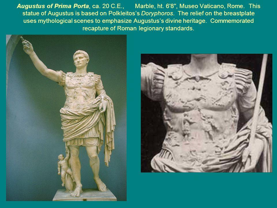 Augustus of Prima Porta, ca. 20 C.E., Marble, ht.