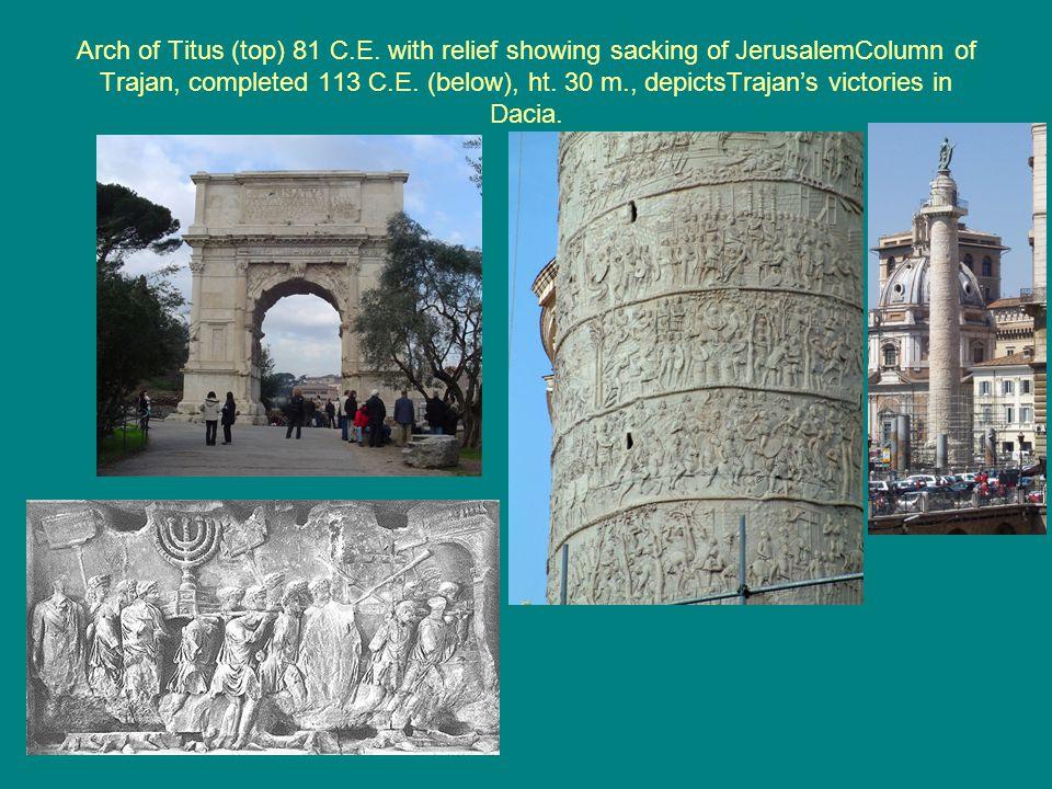 Arch of Titus (top) 81 C.E.