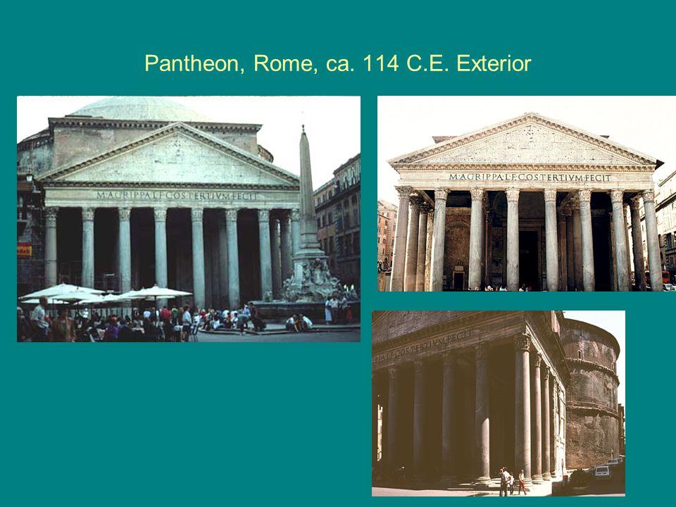 Pantheon, Rome, ca. 114 C.E. Exterior