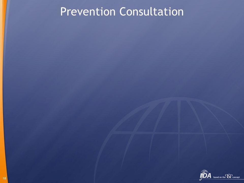 18 Prevention Consultation
