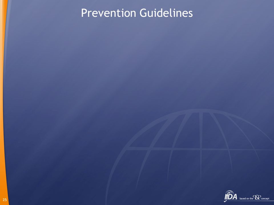 25 Prevention Guidelines