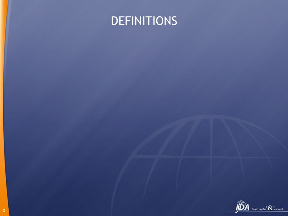 3 DEFINITIONS