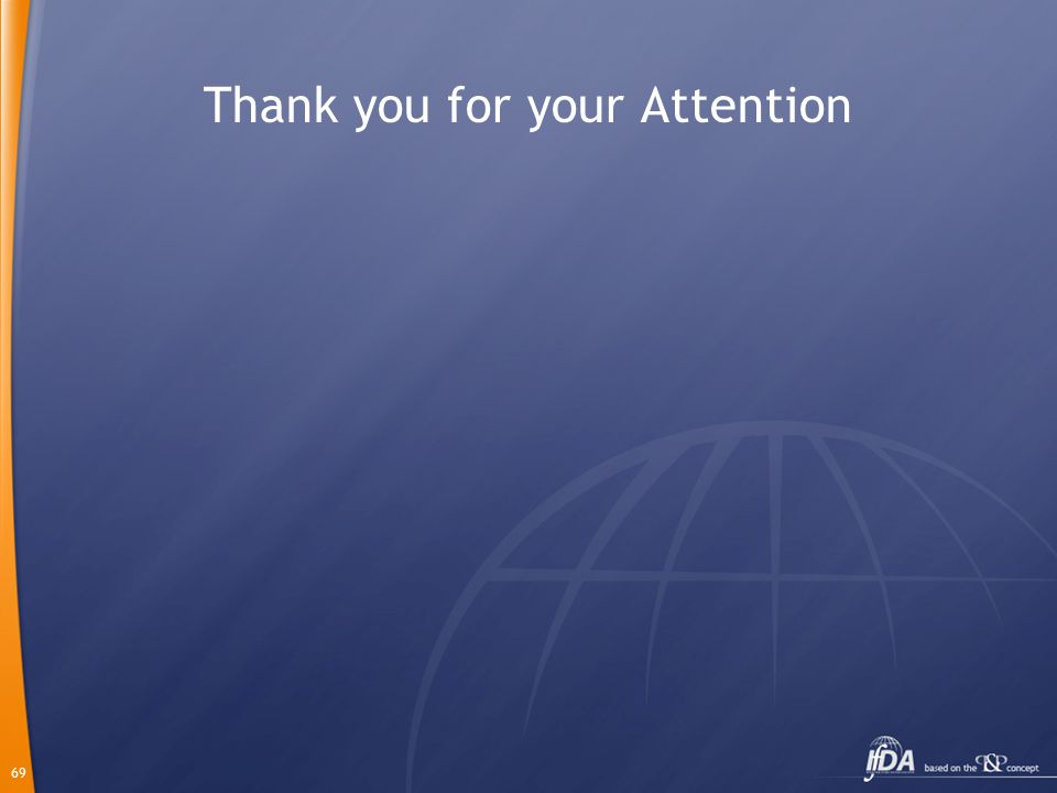 69 Thank you for your Attention