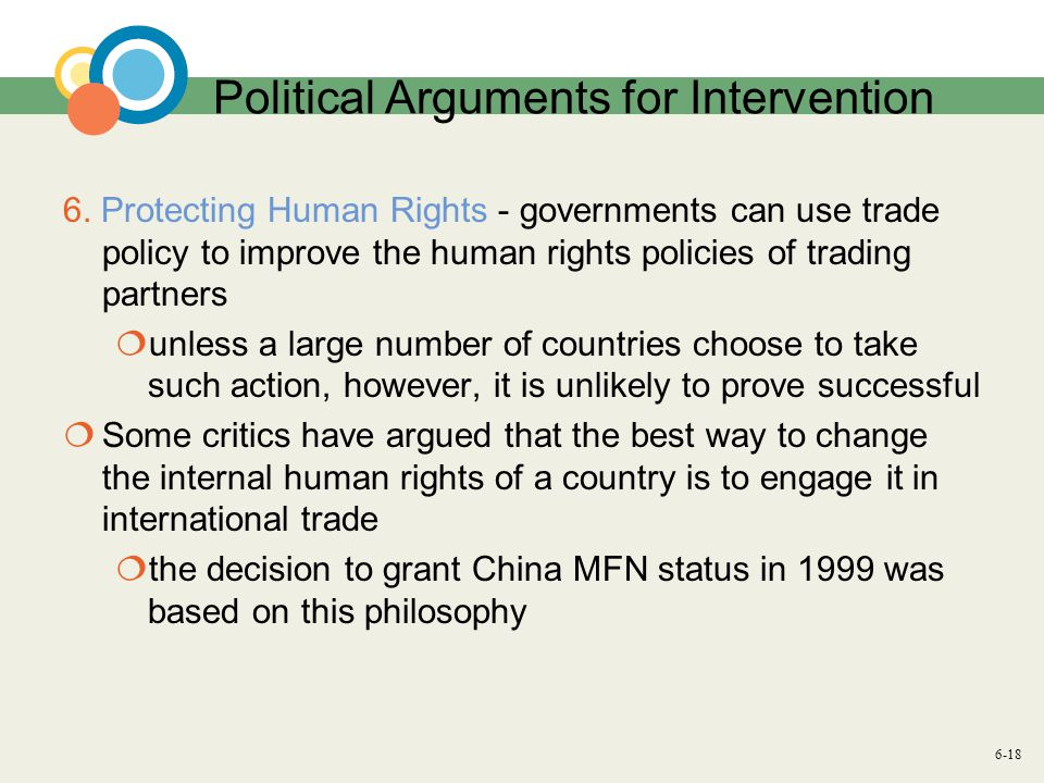 6-18 Political Arguments for Intervention 6.