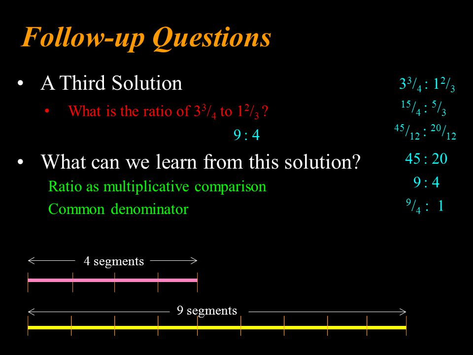 A Third Solution Follow-up Questions What can we learn from this solution.