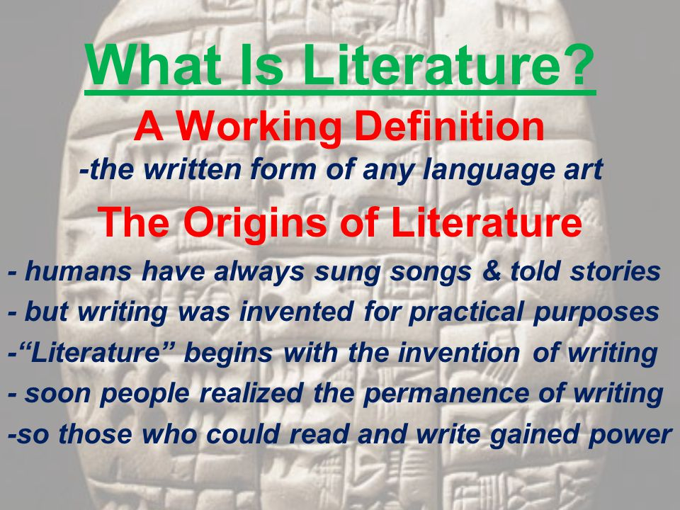 What Is Literature.