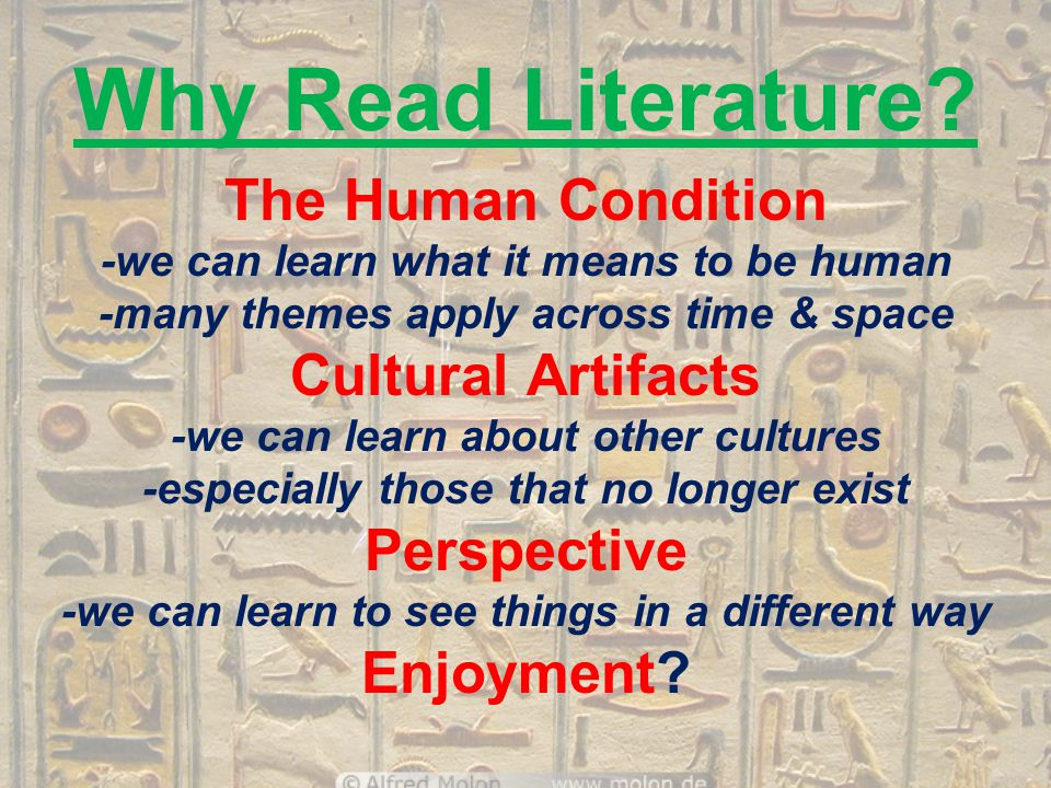 Why Read Literature.