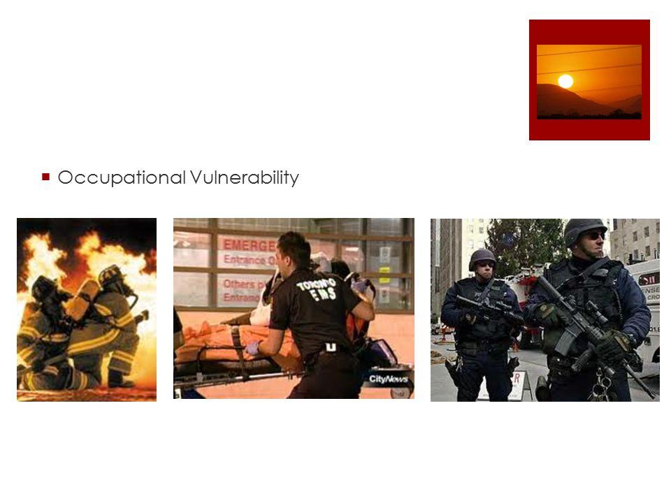  Occupational Vulnerability