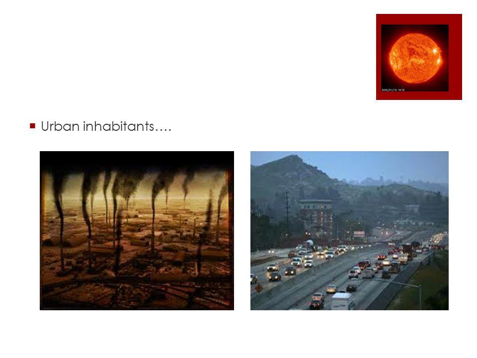  Urban inhabitants….