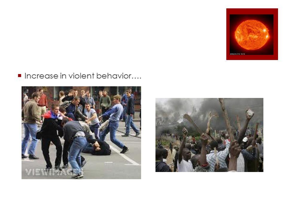  Increase in violent behavior….