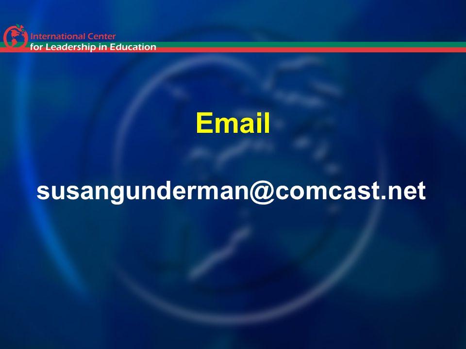 Email susangunderman@comcast.net