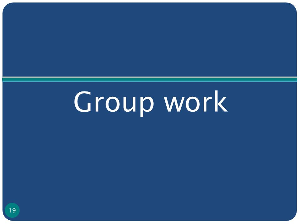 Group work 19