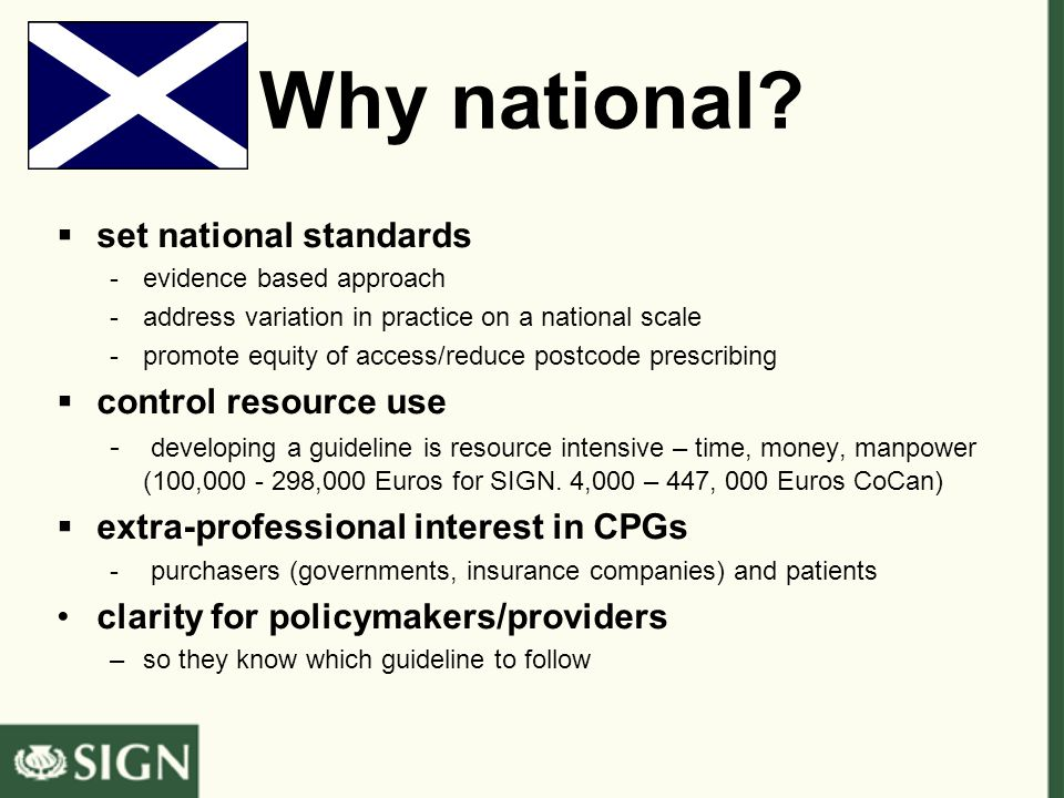 Why national.