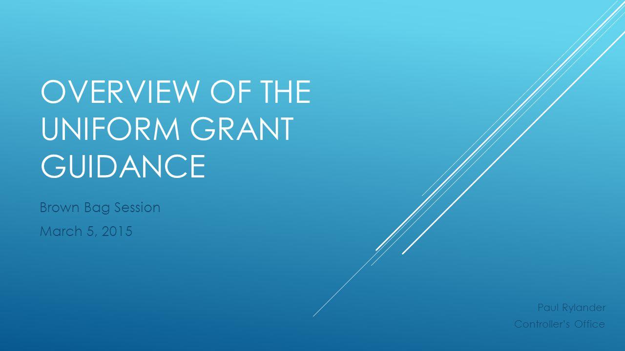 Uniform Grant Guidance: Basic Considerations §200.403 Factors affecting allowability of costs.