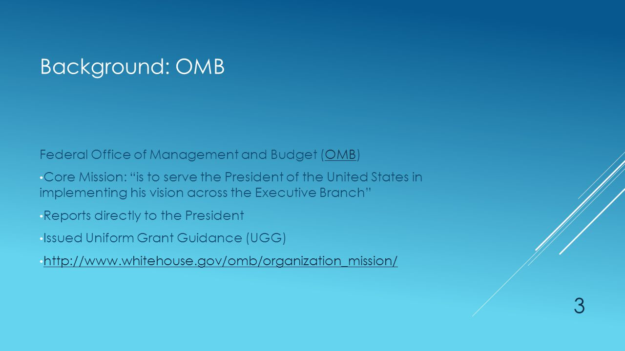 Background: COFAR Council on Financial Assistance Reform (COFAR)COFAR Established by the OMB Federal interagency group formed to provide recommendations for grants management Reported to OMB with recommendations for the UGG https://cfo.gov/cofar/ 4