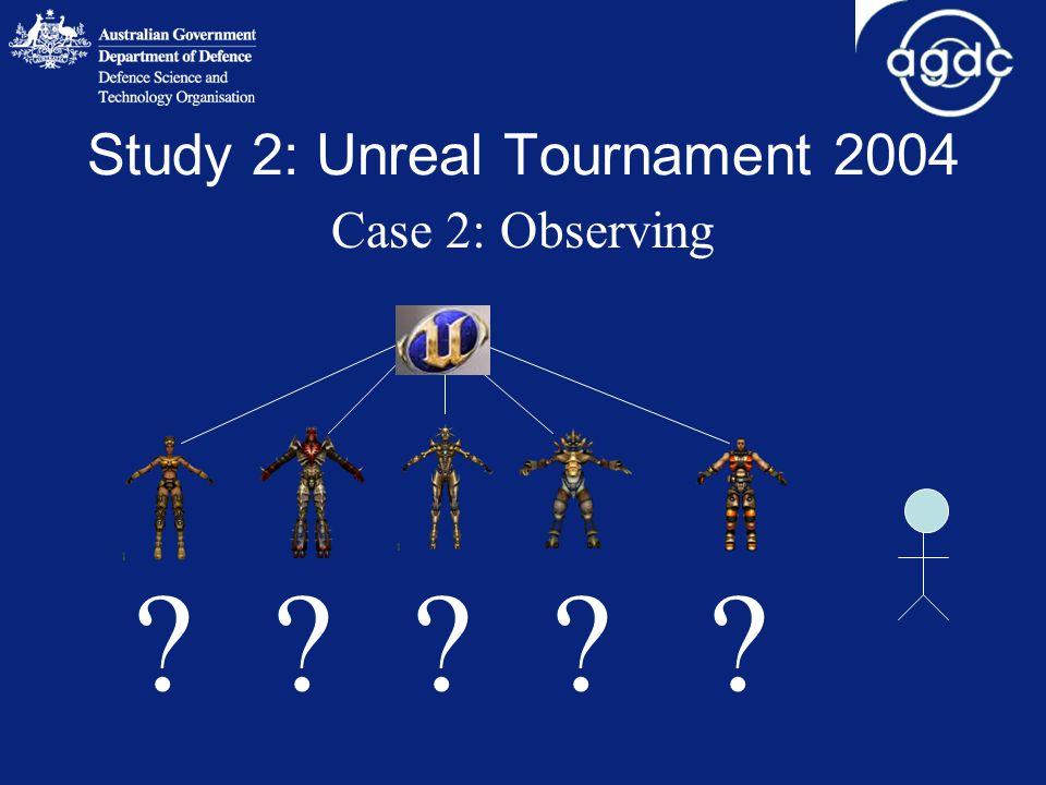 Study 2: Unreal Tournament 2004 Case 2: Observing