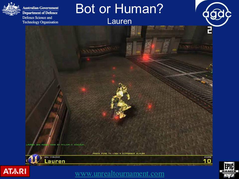 Bot or Human Lauren www.unrealtournament.com