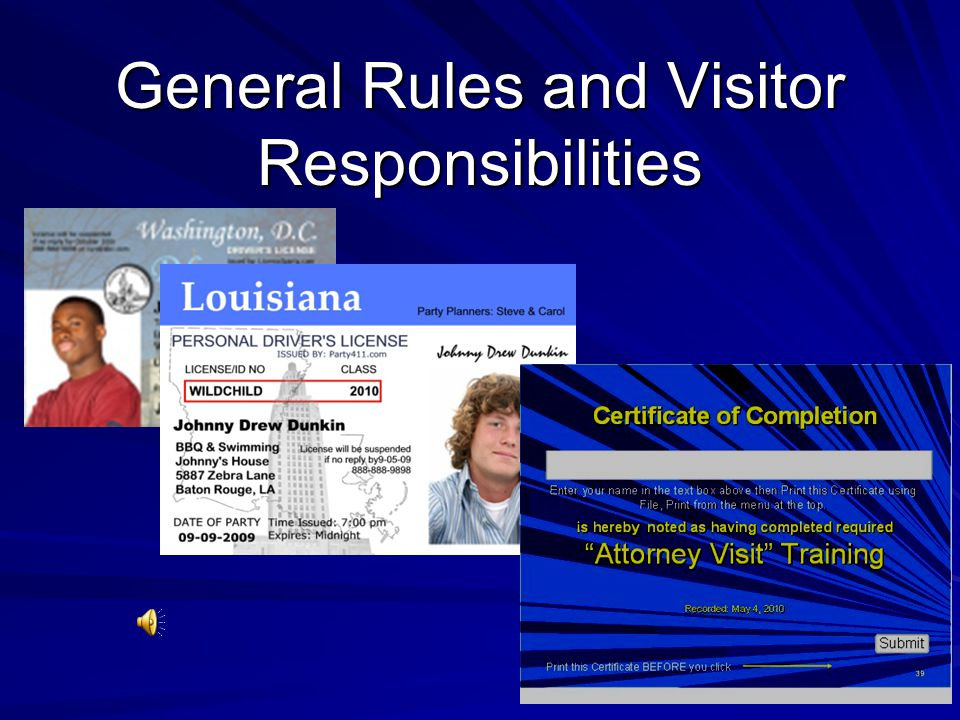 14 General Rules and Visitor Responsibilities