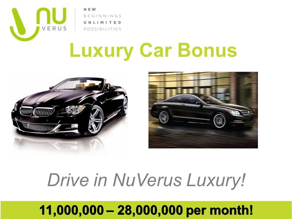 Drive in NuVerus Luxury! Luxury Car Bonus 11,000,000 – 28,000,000 per month!