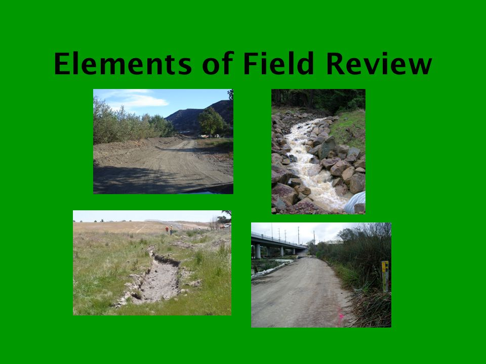 Elements of Field Review