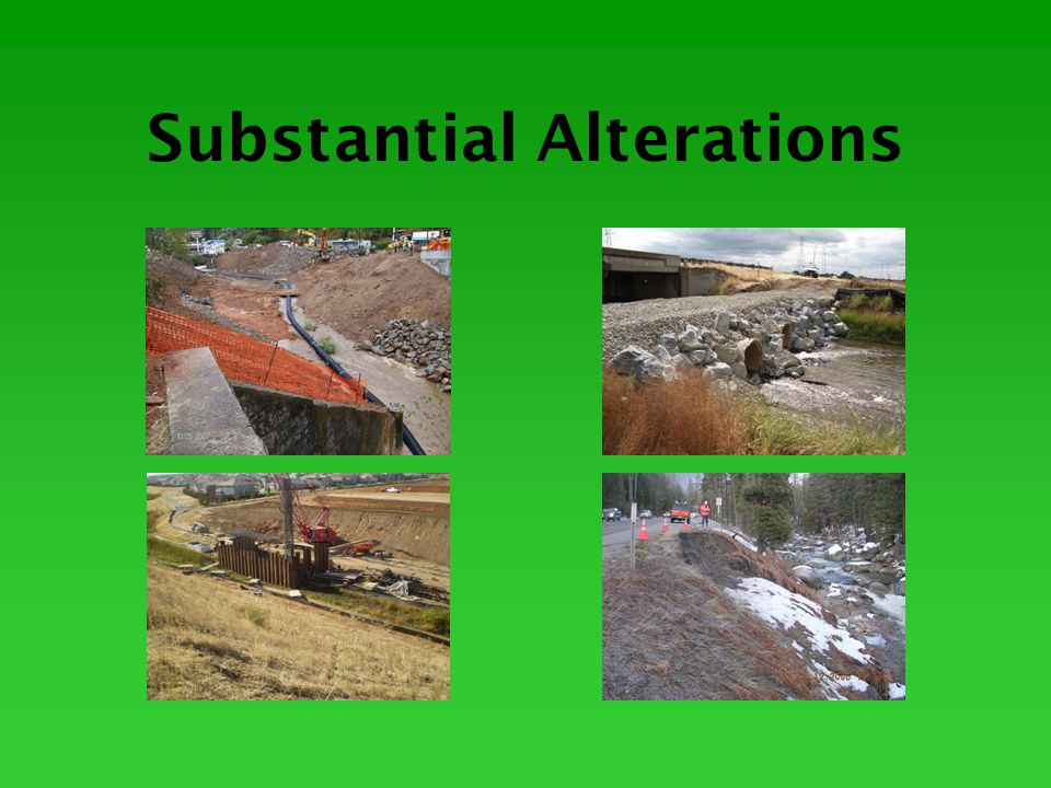 Field Review Alteration to bed, channel or bank Alteration of water quantity or flow characteristics Alteration of water quality Effects on aquatic resources Effects on riparian vegetation Effects on terrestrial species Impacts to special status species