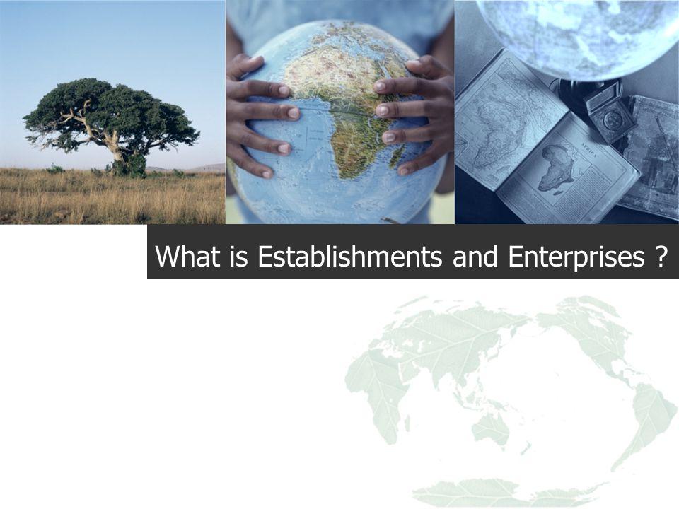 What is Establishments and Enterprises ?