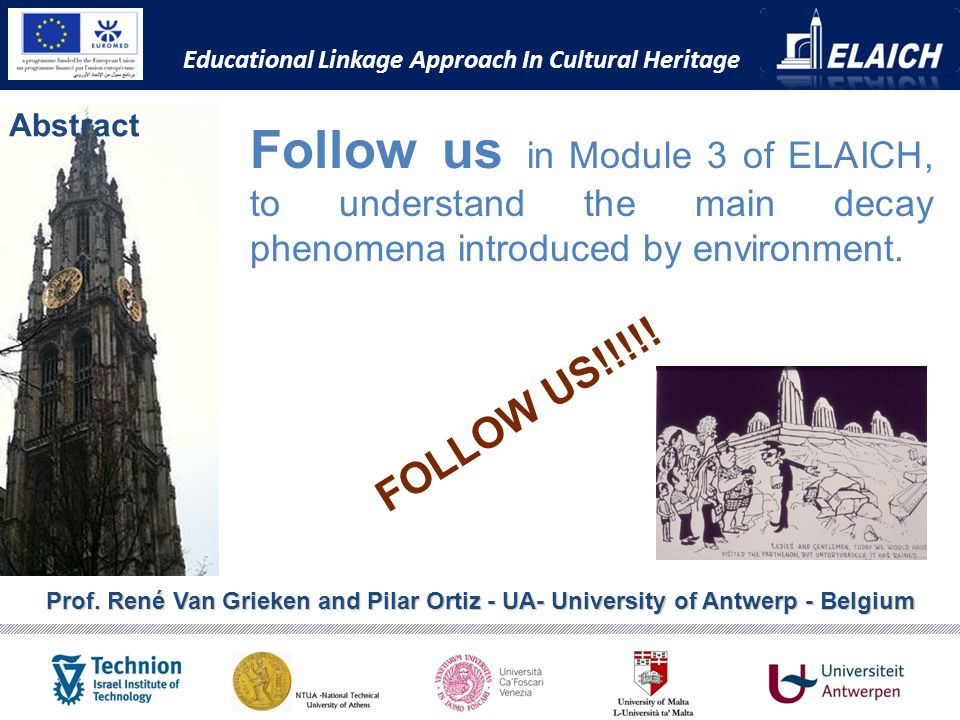Abstract Educational Linkage Approach In Cultural Heritage Prof.
